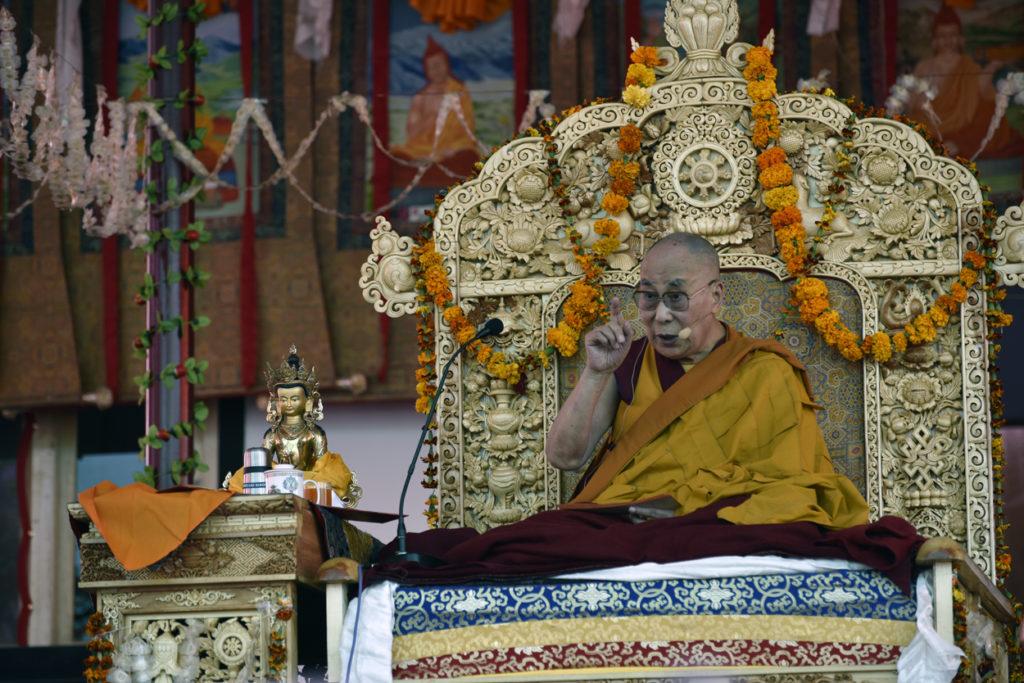 His Holiness The Dalai Lama Begins Teaching at Samstanling Monastery