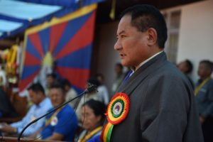 Chief Guest at the Opening ceremony of 25th GCMC, Speaker of Tibetan Parliament in Exile addressing the gathering at upper TCV school. Photo/Tenzin Jigme/CTA