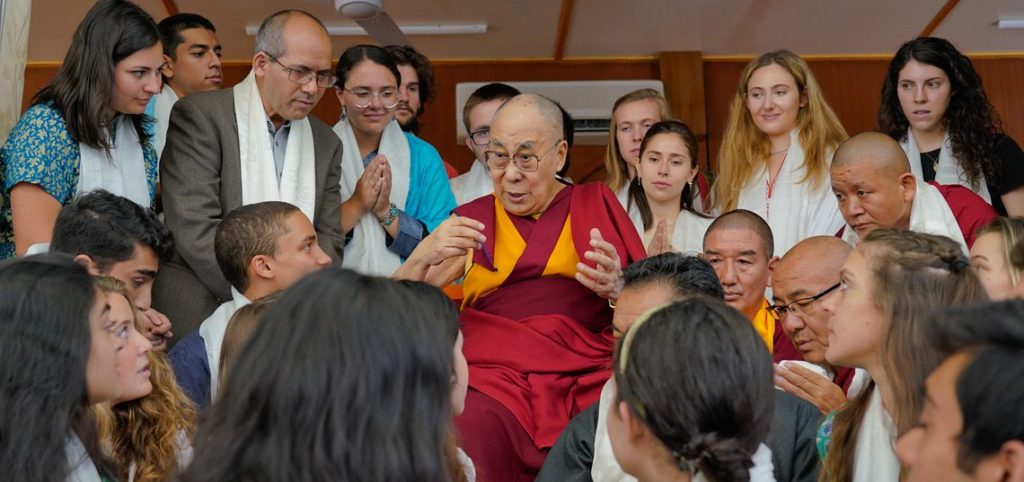 His Holiness the Dalai Lama Speaks with students from Emory University About Compassion. Photo/Screengrab/DalaiLama/Facebook