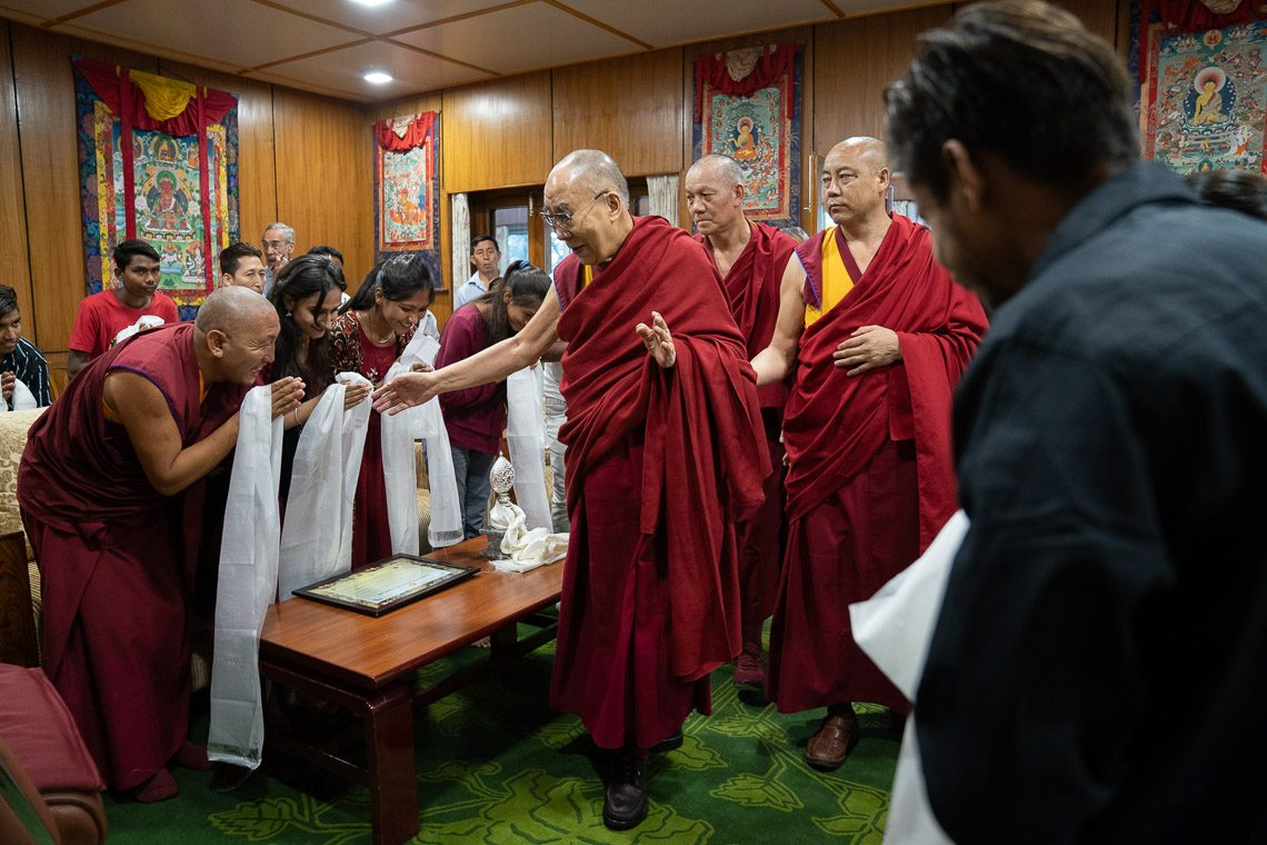 His Holiness the Dalai Lama Meets with Members of Tong-Len