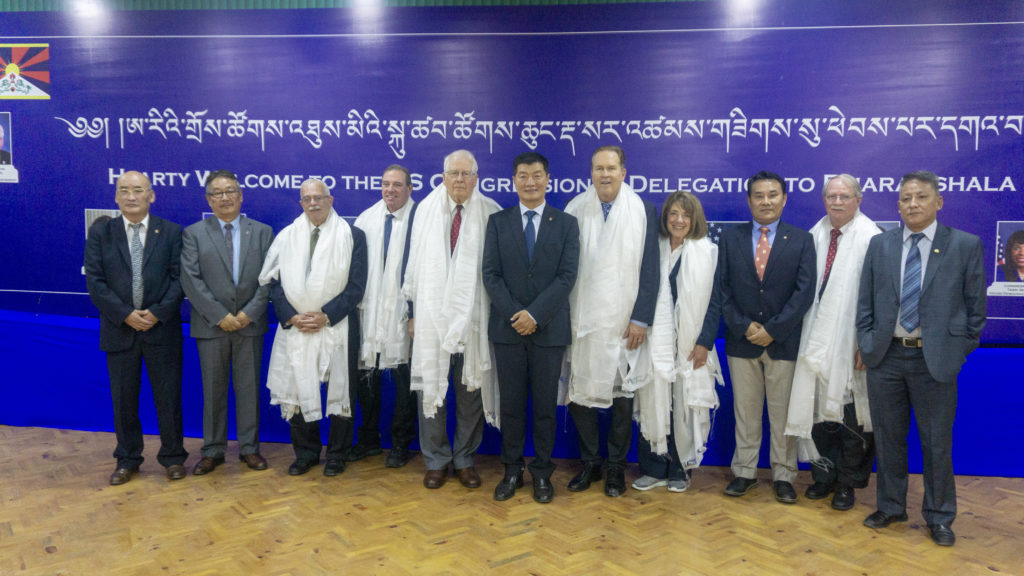 The six bipartisan Congressional delegations of the House of Democracy Partnership with CTA President Dr Sangay and his cabinet ministers. Photo/Tenzin Jigme/CTA