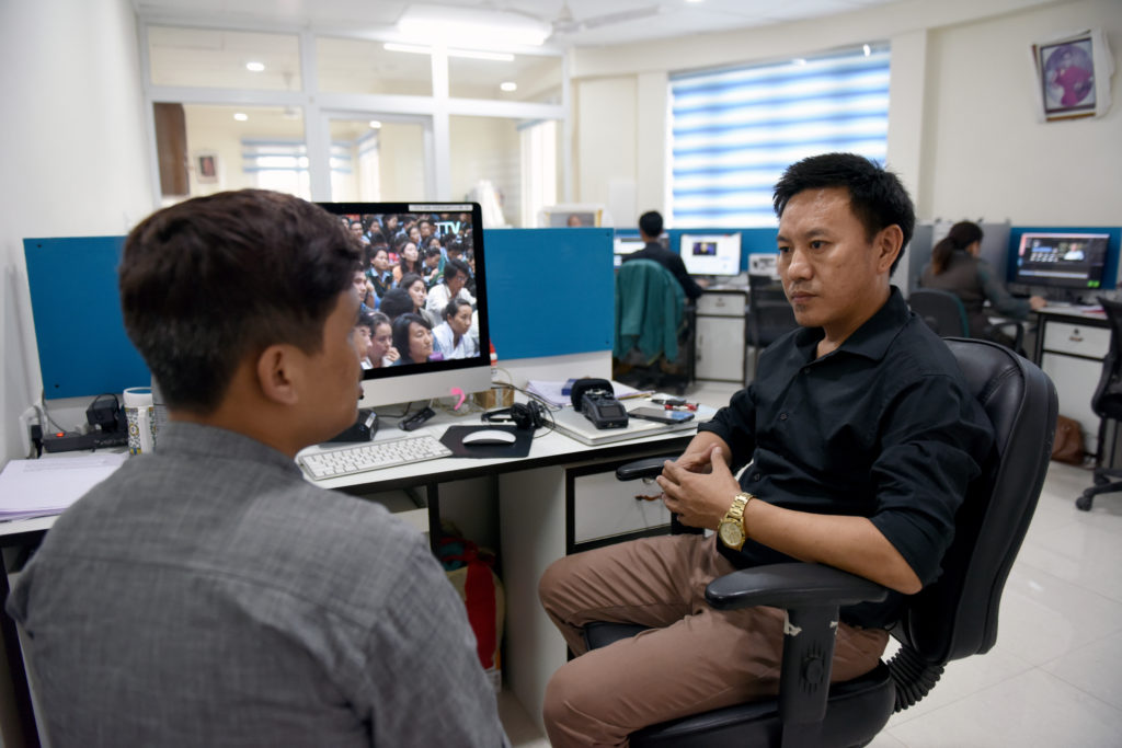 Mr. Namgyal Tsewang, Director of Tibet TV and Deputy Bureau Chief of the Tibet News Bureau at the Department of Information and International Relations, CTA. Photo/Tenzin Jigme Taydeh/CTA