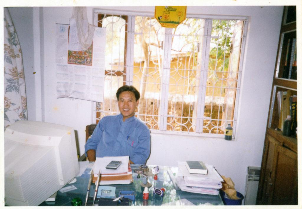 Mr. Namgyal Tsewang as Office Secretary cum Accountant at the Mainpat Phendeling Tibetan settlement.