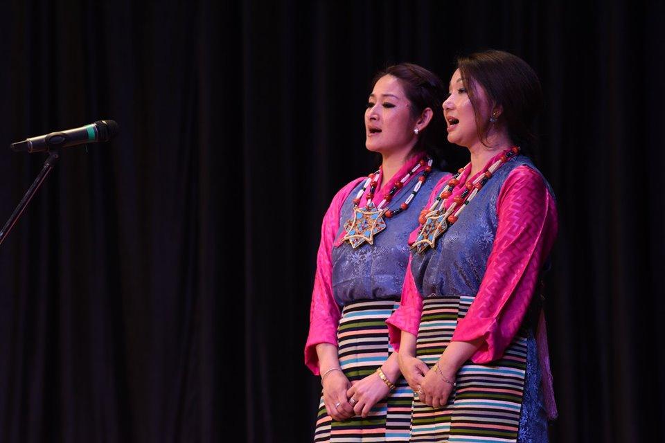 Former Tipa artistes presenting Tibetan Opera song. Photo|Tenzin Jigme|CTA