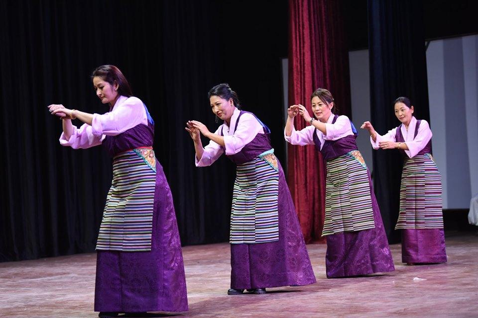 Former Tipa artistes performing Tibetan traditional dance. Photo|Tenzin Jigme|CTA