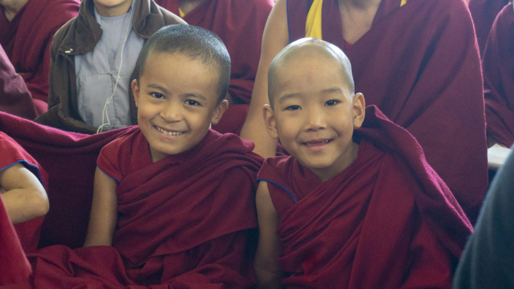 Little monks and their innocent smiles. Photo/Tenzin Jigme/ CTA