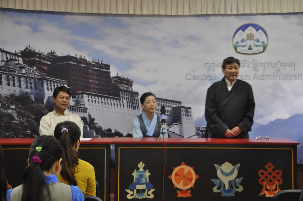Mr. Sonam Norbu Dagpo takes charge as Secretary for International Relations, Central Tibetan Administration, 2014.