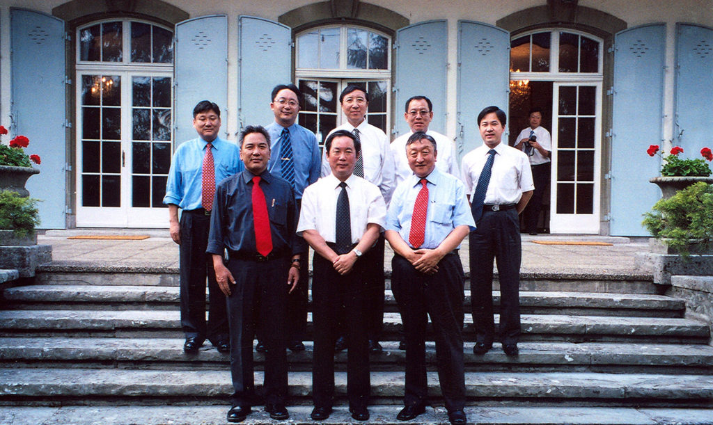 Mr. Sonam Norbu Dagpo as one of the senior assistants to the envoy of His Holiness the Dalai Lama during the 4th Round of meeting with Chinese delegates at Berne, Switzerland on June 2005.