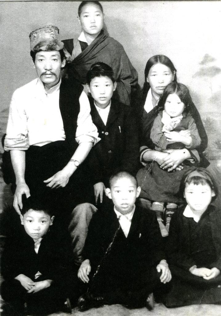Mr Sonam Norbu Dagpo with family.