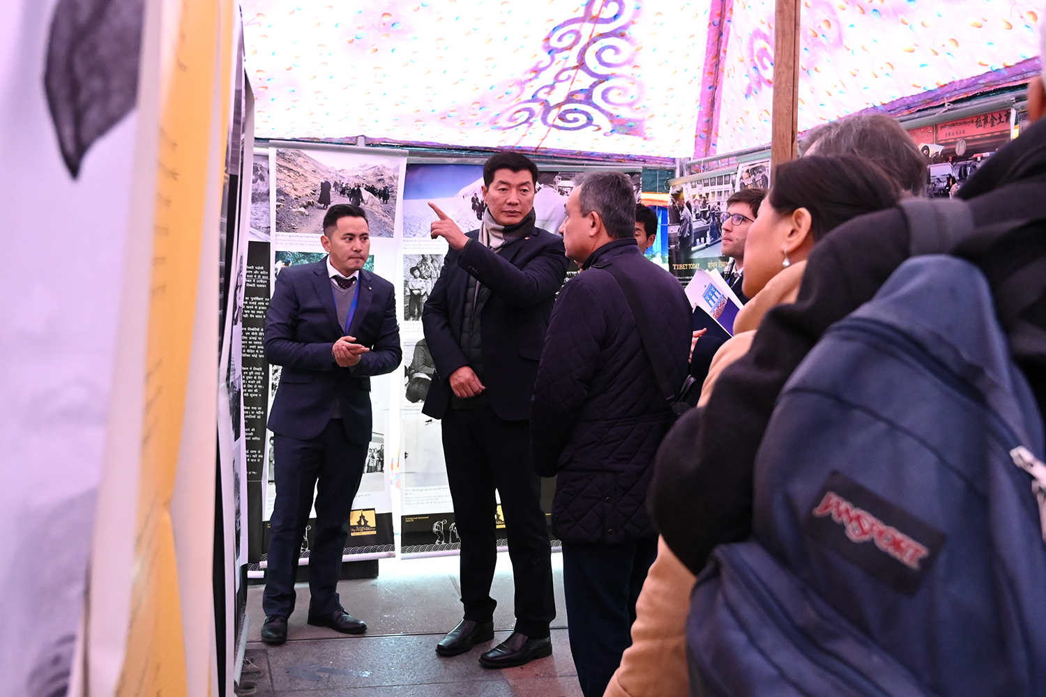 CTA President Dr Sangay explaining on an exhibition to Mr Carlo Sommaruga, Honorable member of the National Parliament of Switzerland along with 15 different speakers. Photo|Tenzin Nyishon|Switzerland