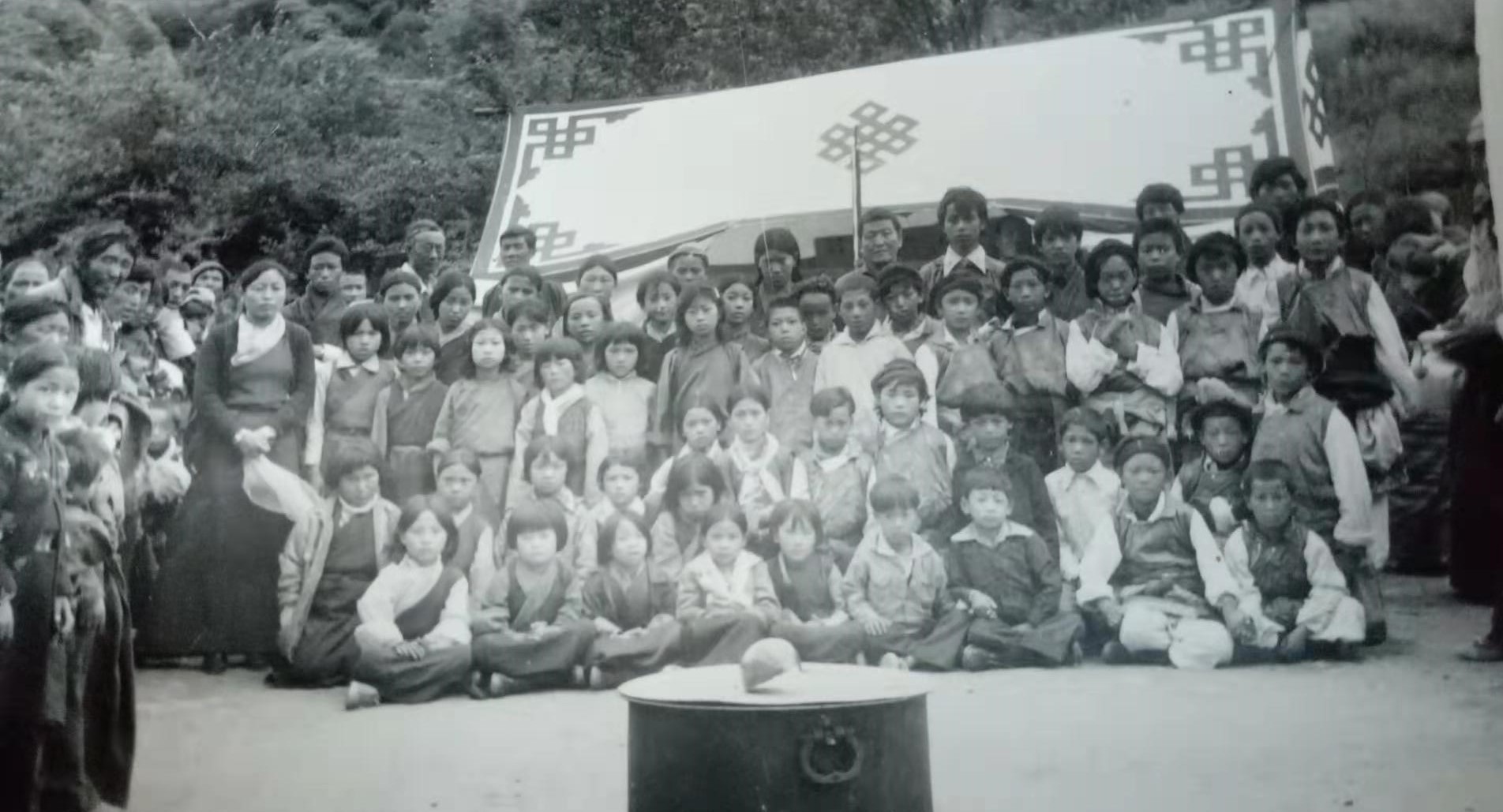 Mr. Dhondup Tsering's childhood picture seated front second row first from right.