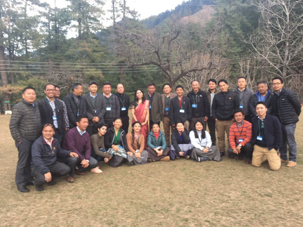 A group picture with a resource person during administration management training at HIPA -Shimla, 2017.