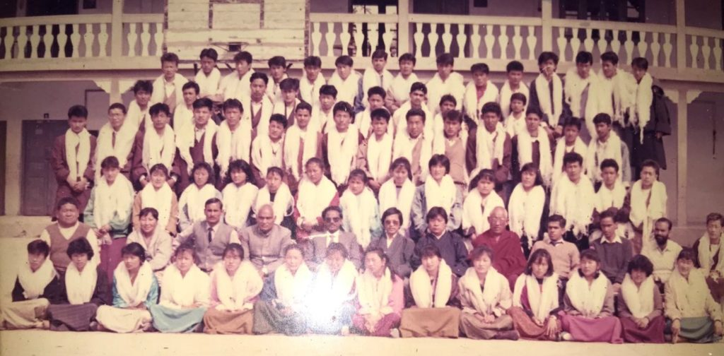 CST Mussoorie's class XII Batch's graduation day group picture, 1990.