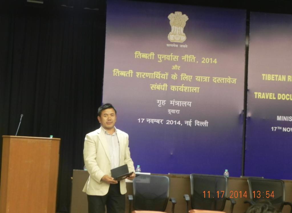 A workshop on Tibetan Rehabilitation Policy, organised by MHF- GOI in Delhi, 2014.
