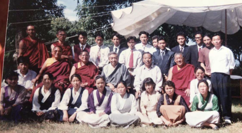 A group photo of the first-ever batch of CTA civil servant trainees at Sarah-College for Higher Tibetan Studies, Dharamshala.