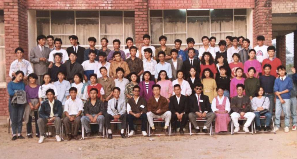 RTYC members at Indra Bhavan on freshers day in 1991.
