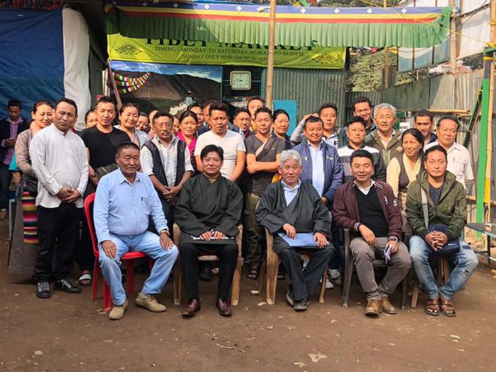 Parliamentarians Ngawang Tharpa and Dawa Tsering Tibetan on their official visit to winter sweater sellers of Odisha, West Bengal and Jharkhand. Photo/ Tibetan parliamentary secretariat