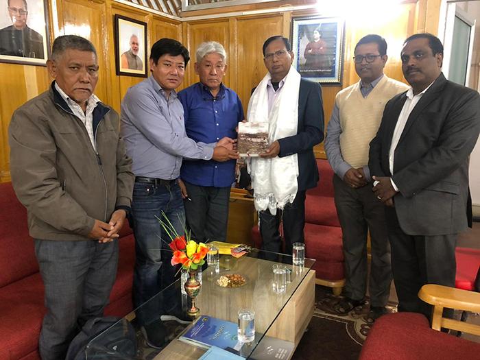 Parliamentarians meet the Vice-Chancellor of Central University of Jharkhand, Prof. Nand Kumar Yadav. Photo/ Tibetan parliamentary secretariat