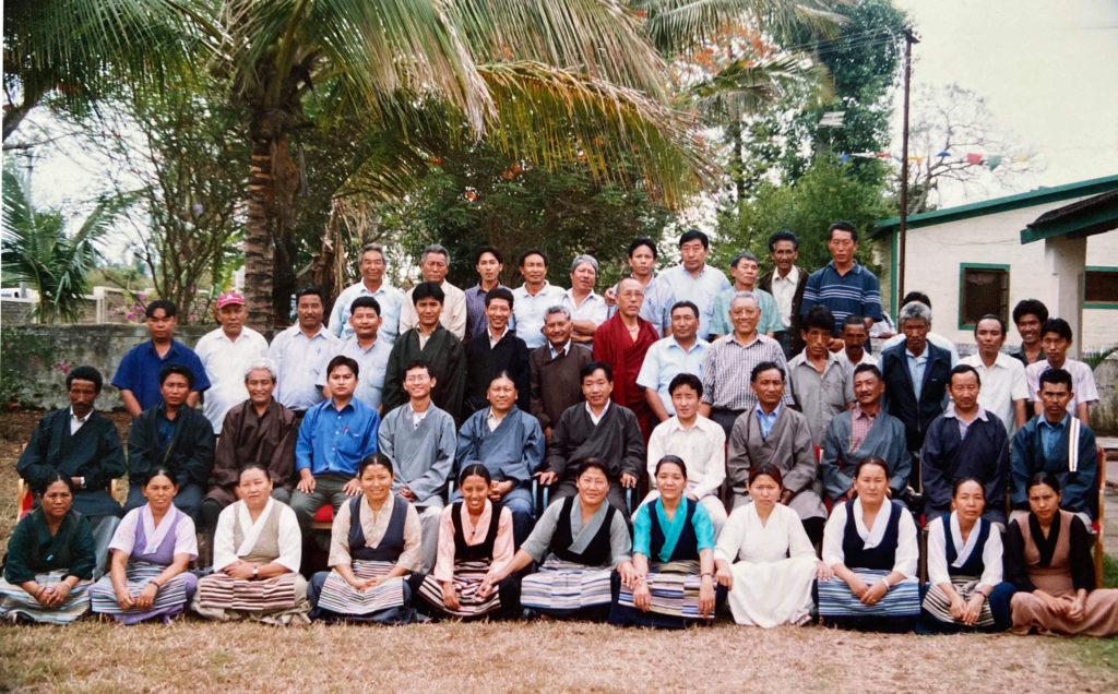 With Representative, Board of Directors and staff of TDL Settlement Bylakuppe, 2004.