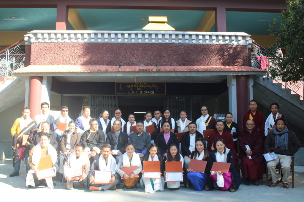 Kalon Dr Kalon Dr Pema Yangchen, Department of Education with the Principal and Teaching staff of Sarah College for Higher Tibetan Studies, Dharamshala and the Graduates.