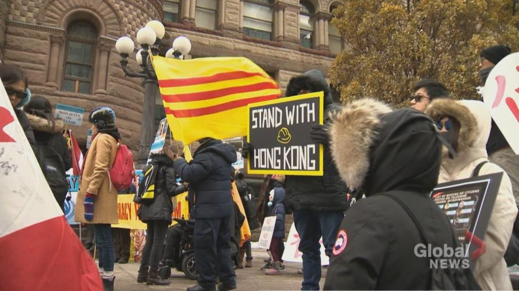 Toronto rally calls on feds to address human rights violations in China. Global News