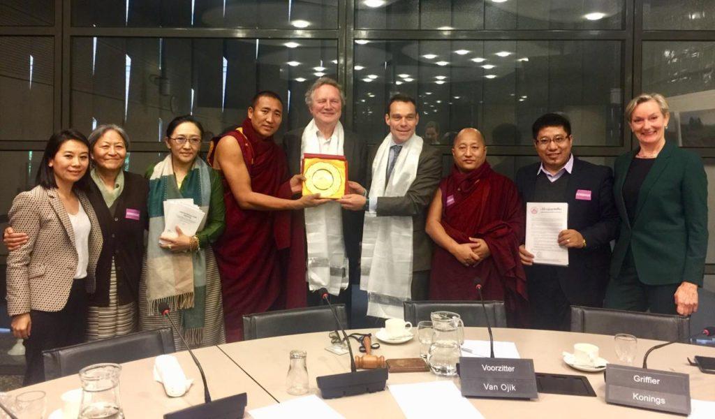 Tibetan Parliamentary delegation with MP Bram van Ojik and MP Martin van Helvert, Members of the House of Representatives. Photo/ Tibetan parliamentary secretariat