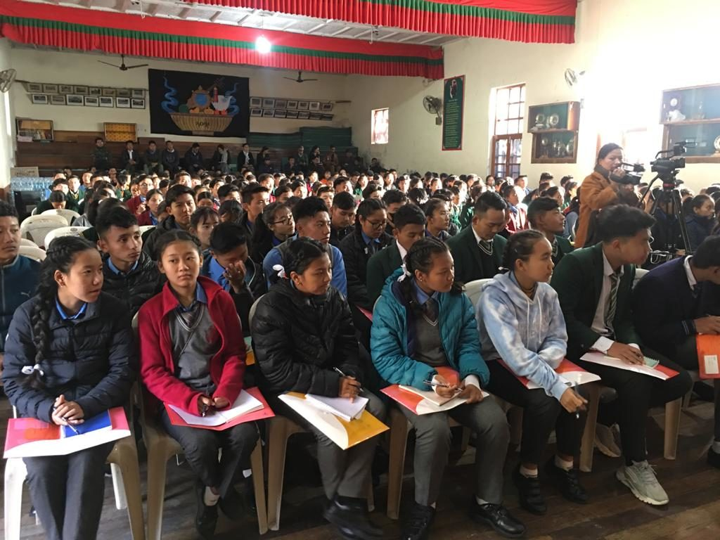 Students of Class X at the Leadership Workshop held in Lower TCV, Dharamsala by the Department of Education.