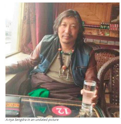 Tibetan activist, A-Nya Sengdra in an undated photo. Photo/ freetibet.org