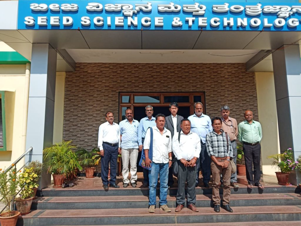 TSO Mundgod delegation led by SO Lhakpa Tsering with the team of seed science and technology at the Dharwad Agriculture University. .