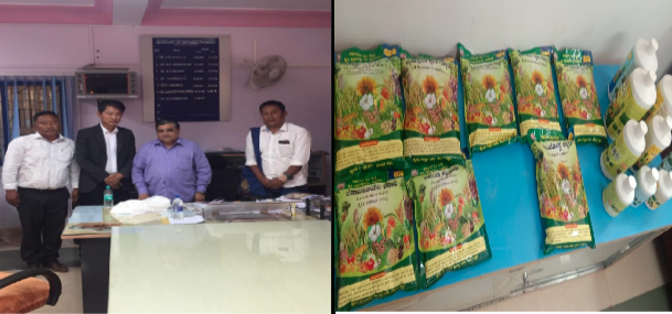 Dr M.N. Sreenivasa, head of Institute of organic farming and bioproduct from his institute