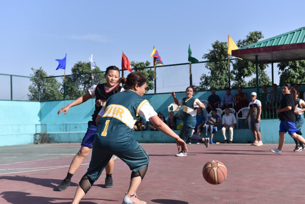 Ms. Tenzin Zeydhan participates at the CTA's Women's basketball match.