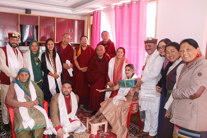 Deputy Speaker-led Parliament members at the Dham hosted by Deputy Mayor of Dharamshala and Tibet supporter Shri Onkar Nehria. Photo/Tibetan Parliament-in-Exile