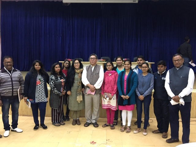 With students of Far East Language course of School of Language. Photo/ ITCO, Delhi