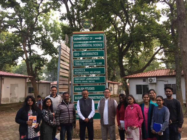 Students of Far East Language with Sign Boards at behind. Photo/ ITCO, Delhi