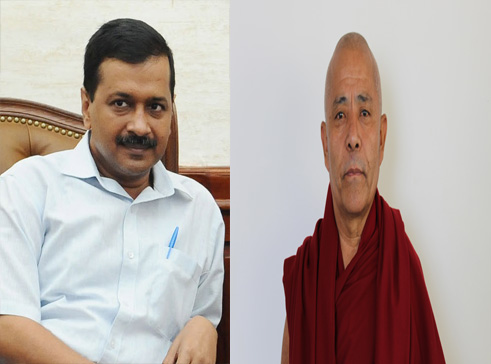 Deputy Speaker congratulates Delhi CM Arvind Kejriwal on Election Victory. Photo/ Tibetan Parliament-in-Exile