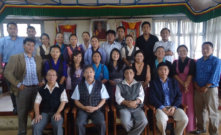 Ms Tenzin Zeydhan with her colleagues and CTA officials at the Department of Finance, 2010.