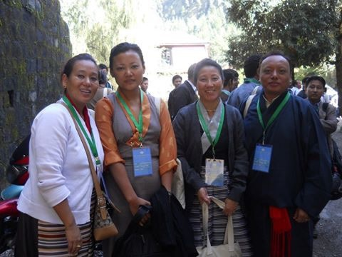 Tenzin Zeydhan with CTA staff during the Second Special General Meeting, 2012.