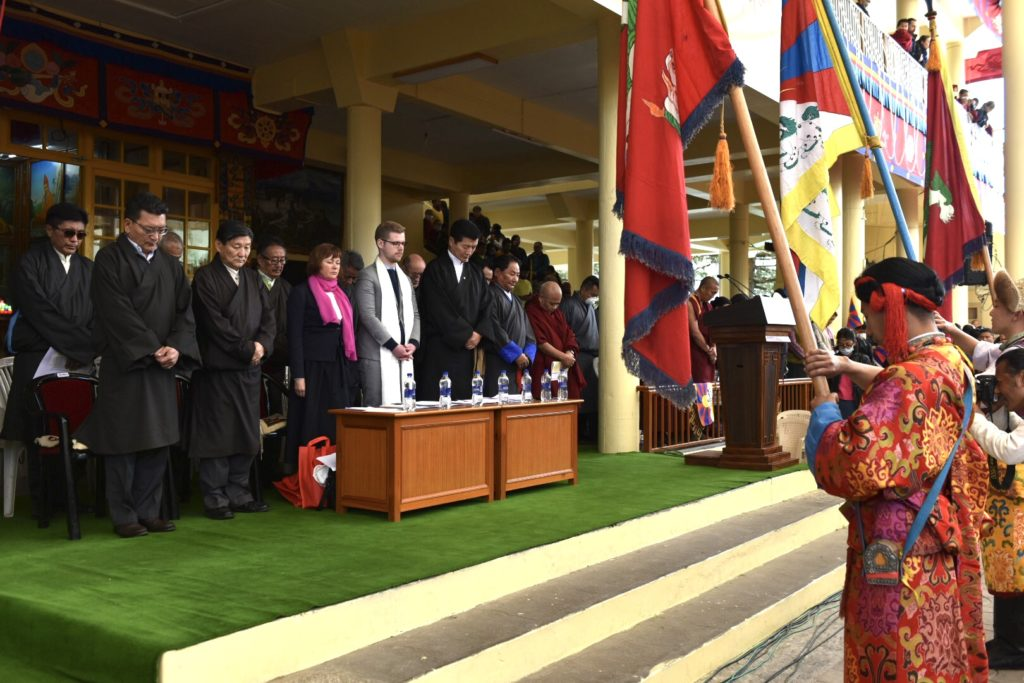 Sikyong led CTA officials and the Czech MPs observe a moment of silence in respect to the Tibetan martyrs. Photo|Tenzin Phende|CTA