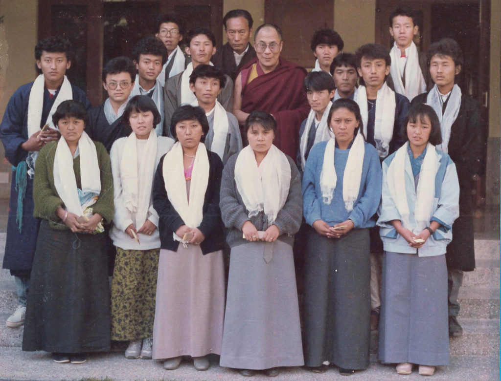 Trainees of Accounts and Book Keeping, Dharamsala, 1988.