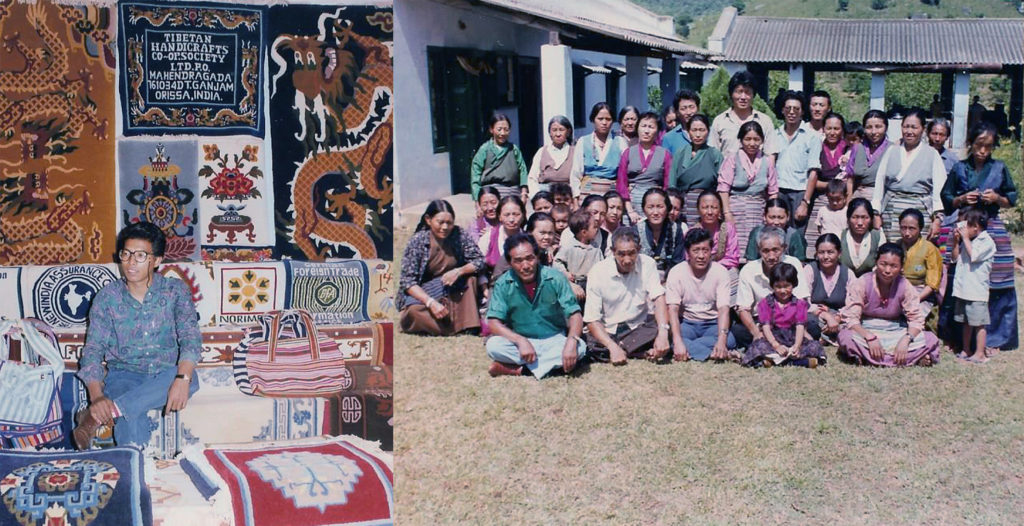 State level Handicrafts Exhibition and Staff & Workers of Tibetan Handicraft, Odisha, 1991.