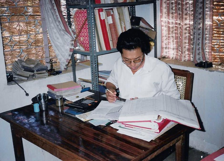 Office of Tibetan Co-operative Society, Bhandara, 1995.