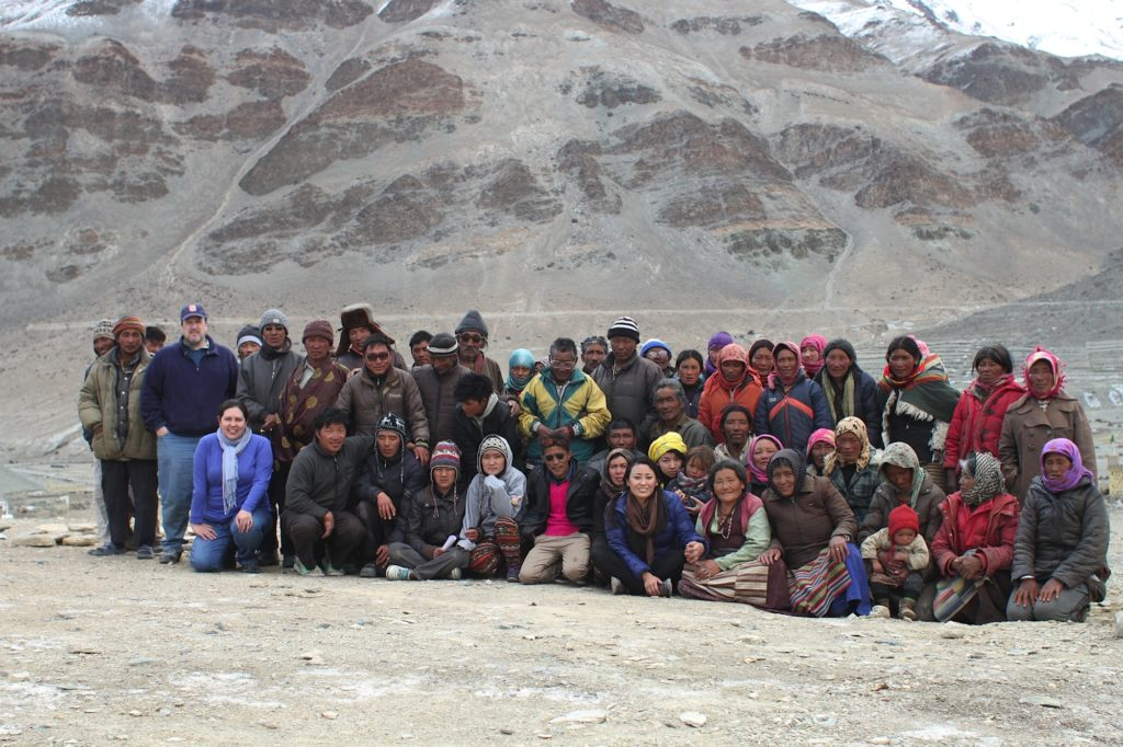 The Hepatitis B assessment team during a meeting with the Tibetan nomads at Sumdo Jangthang region, Ladakh, 2015.