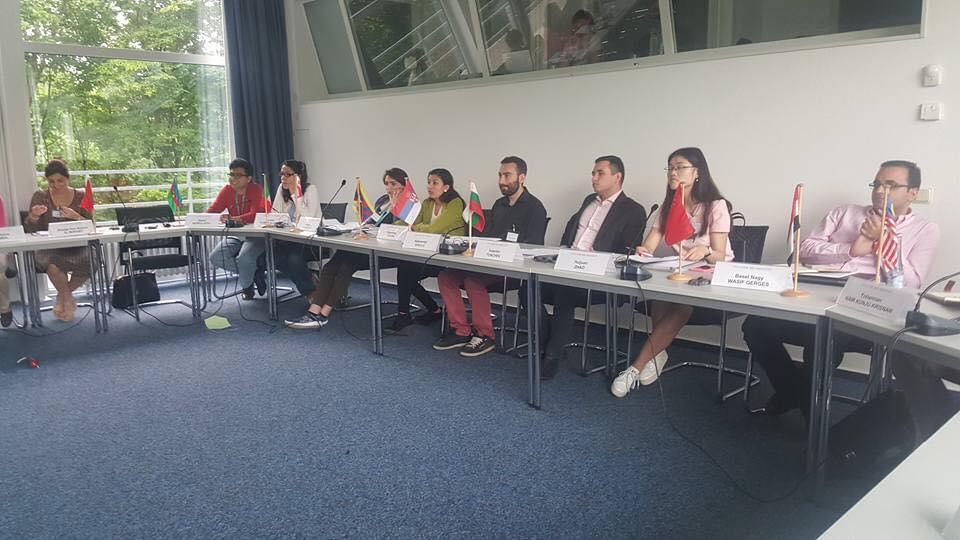 Ngawang Tenzin at a leadership workshop in Germany.