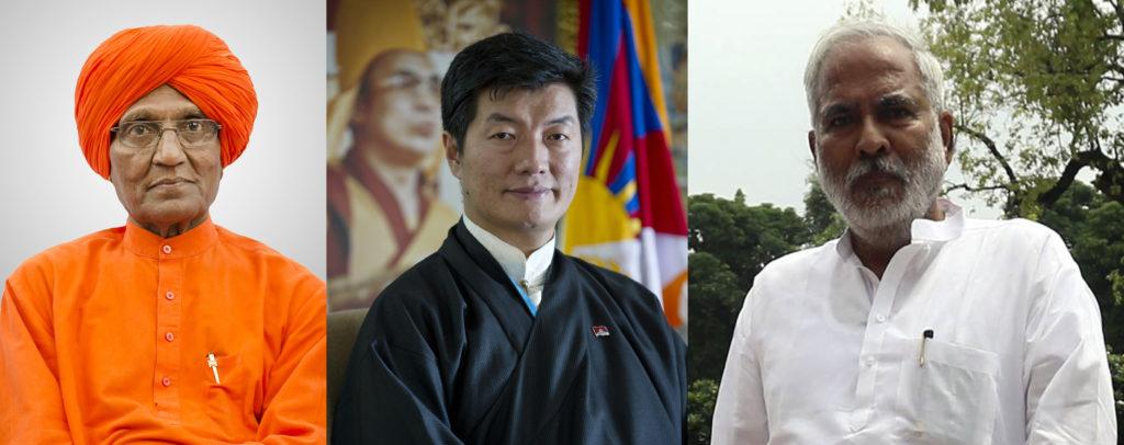 Sikyong Dr Lobsang Sangay condoles the demise ofSwami Agnivesh (left) andDr. Raghuvansh Prasad Singh(right).