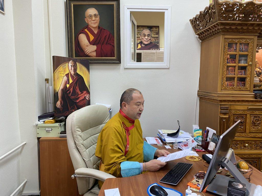Representative Telo Rinpoche speaks at Diplomatic Academy ...
