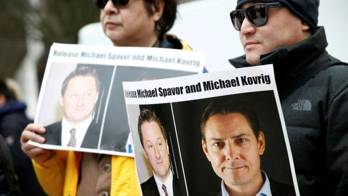Michael Kovrig and Michael Spavor were arrested in China in December 2018 in what the Canadian government has compared to a hostage taking © Lindsey Wasson/Reuters