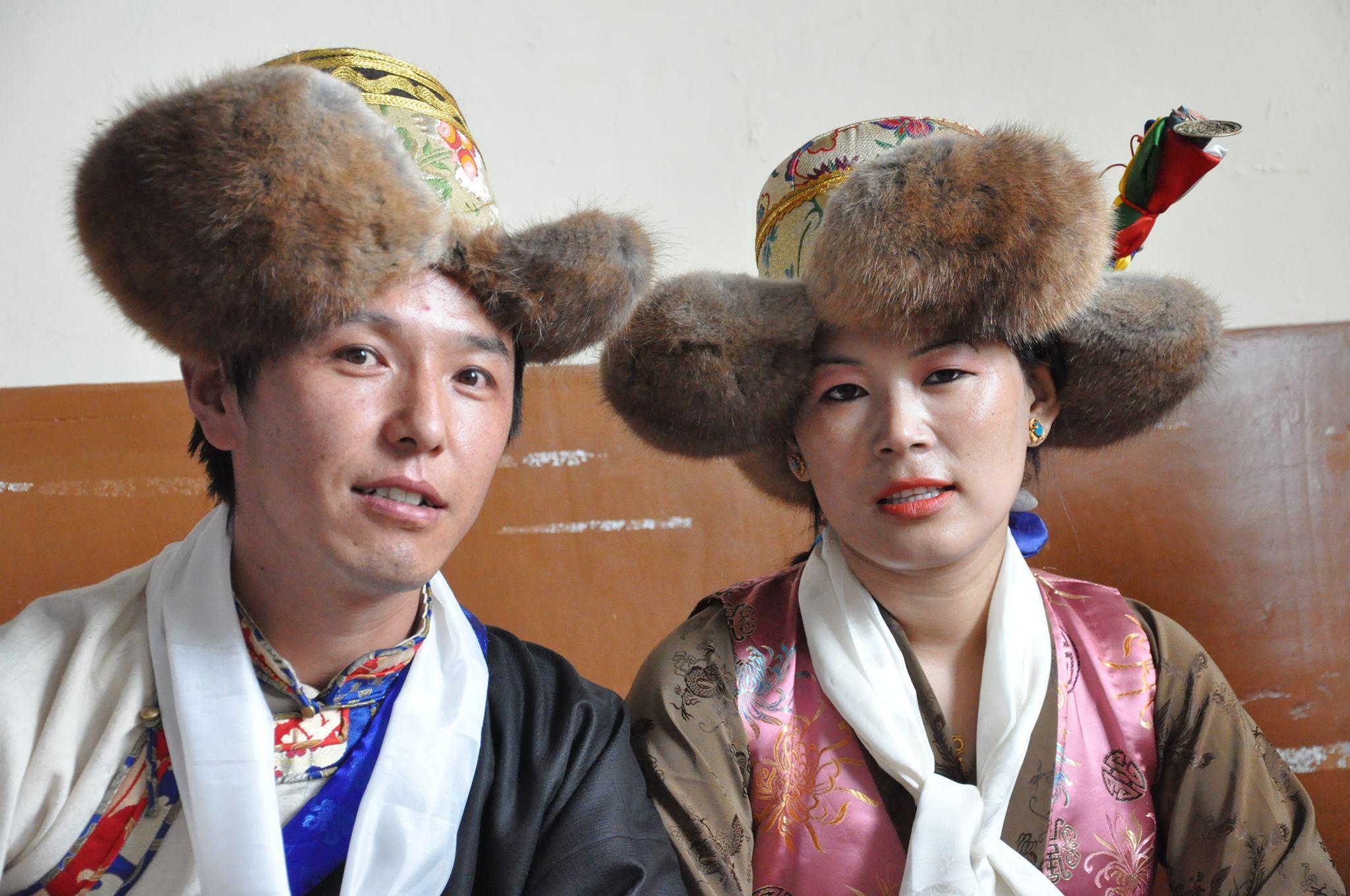 Mr. Thinley Umawa with his wife Tsering Choekyi Umawa at their wedding day.