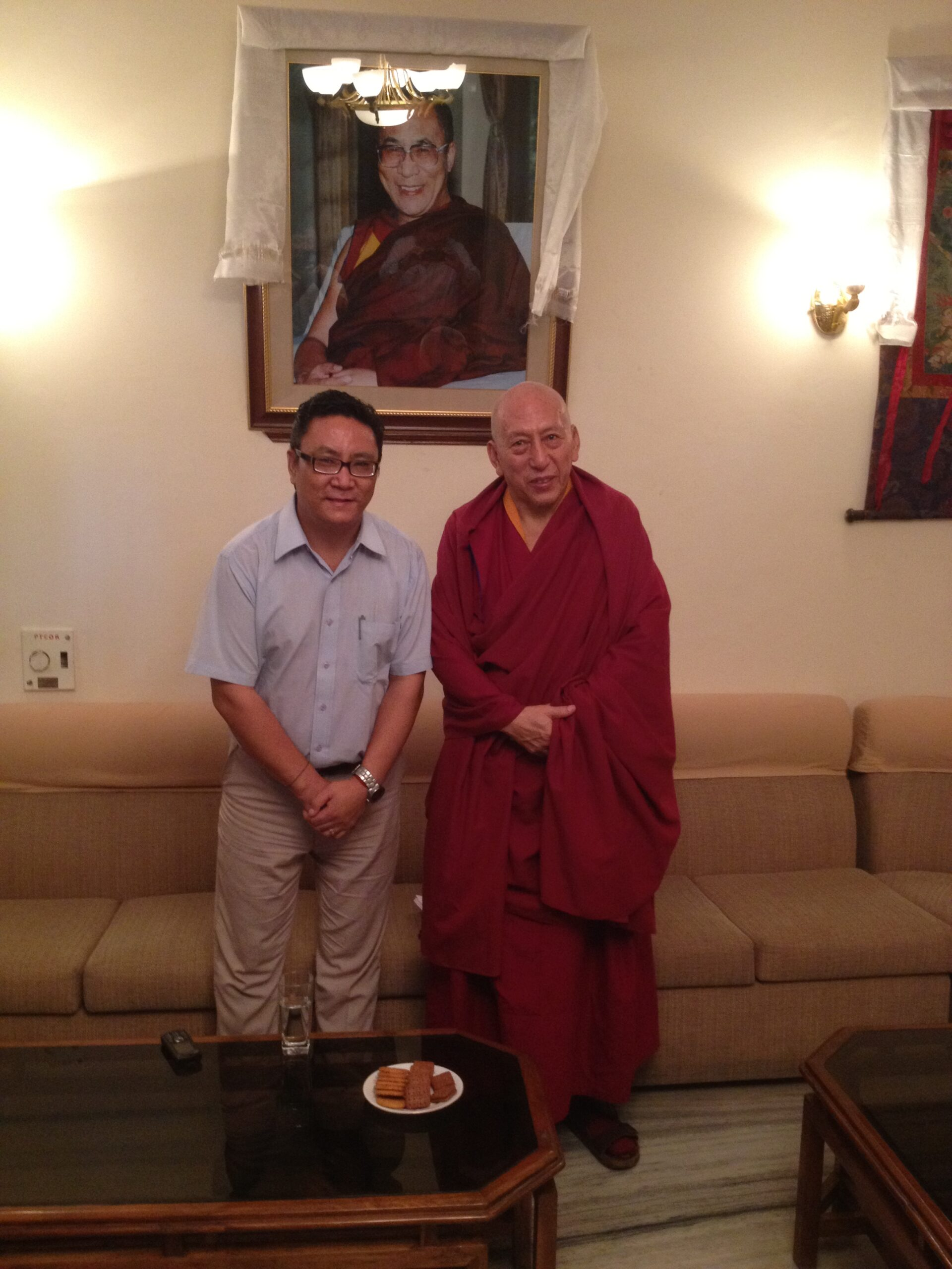 Mr. Palden Dhondup with Kasur Samdhong Rinpoche.