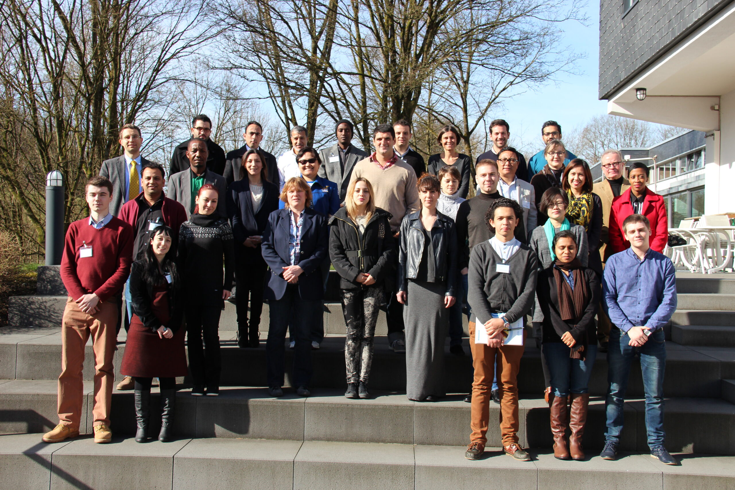 Mr. Palden Dhondup with fellow participants of leadership work on good governance, organised by Friedrich Naumann Foundation in Brandenburg, Germany, March 2014.