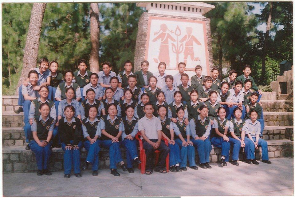 Mr. Thinley Umawa with class XII mates at TCV Gopalpur.